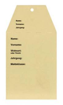 Startkarten für Volkslauf Beige