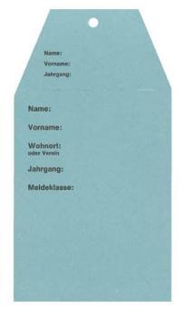 Startkarten für Volkslauf Blau