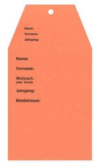 Startkarten für Volkslauf Orange