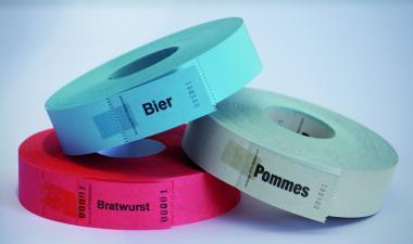 "1 000 Bons auf Rolle ""Bratwurst"""