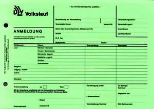 Anmeldung und Bericht für Volkslauf