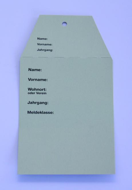Startkarten für Volkslauf Grün